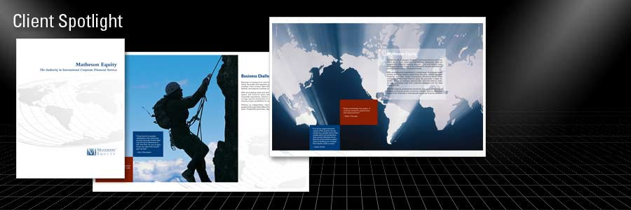 Client: Matheson Equity – Branding, Corporate Identity, Sales Tools, & Web Design