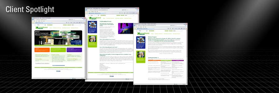 Client:  Broadband Forum – Web Design